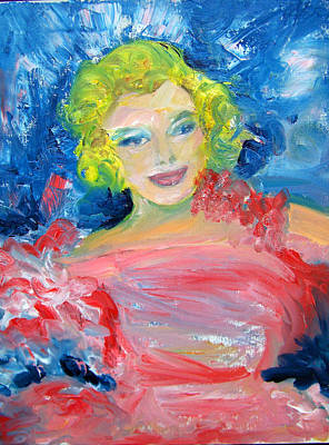Marilyn Monroe In Pink And Blue Poster by Patricia Taylor