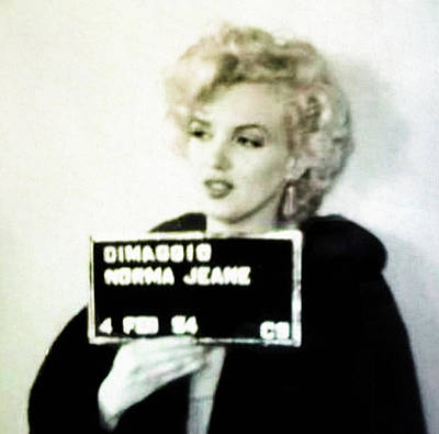 Marilyn Monroe Mugshot Poster by Bill Cannon