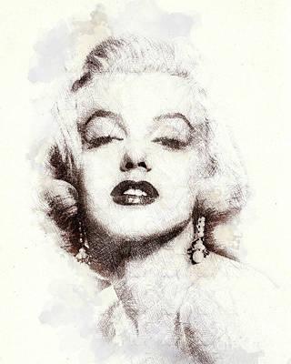 Marilyn Monroe Portrait 02 Poster
