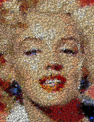 Marilyn Monroe Puzzle Mosaic Poster by Paul Van Scott