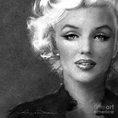Marilyn Soft Bw Poster