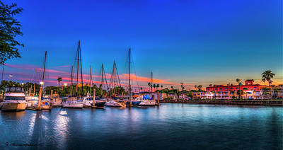 Marina Sunset Poster by Marvin Spates