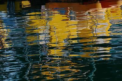 Marina Water Abstract 2 Poster by Fraida Gutovich