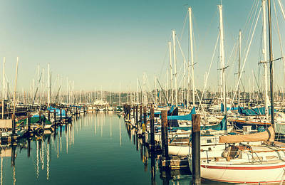 Marinaside Sausalito California Poster