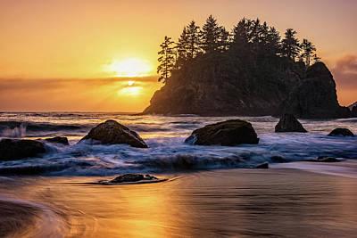 Marine Layer Sunset At Trinidad, California Poster