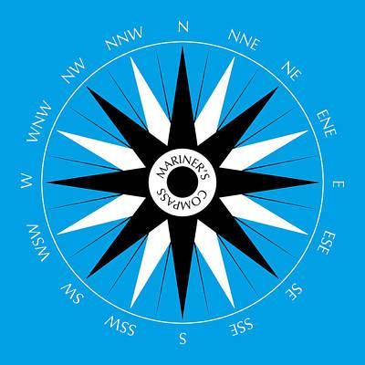 Mariner's Compass Poster by Frank Tschakert
