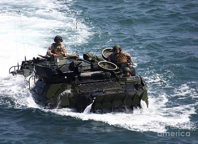 Marines Operate An Amphibious Assault Poster