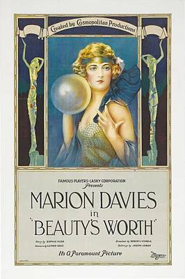 Marion Davies In Beauty's Worth 1922 Poster