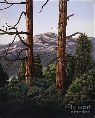 Marion Mountain At Sun Set Poster