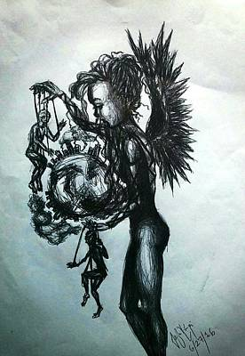 Marionette Poster by Sofia Korpi