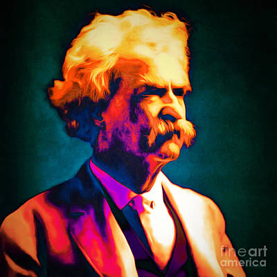Mark Twain 20151224 Square Poster by Wingsdomain Art and Photography