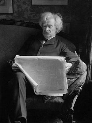 Mark Twain - American Author And Humorist Poster by War Is Hell Store