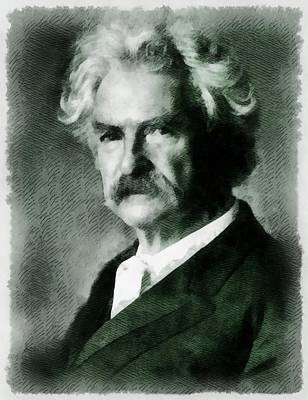 Mark Twain Author Poster