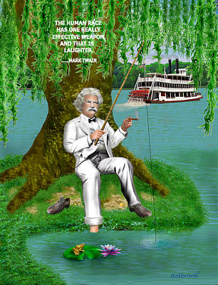 Mark Twain On The Mississippi Poster
