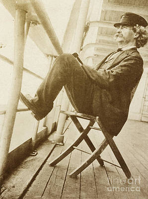 Mark Twain Poster by Photo Researchers