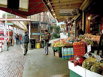 Market Alley Wares Poster
