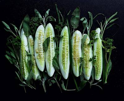 Market Cucumbers Poster