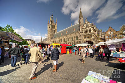 Market Day At Ypres  Poster