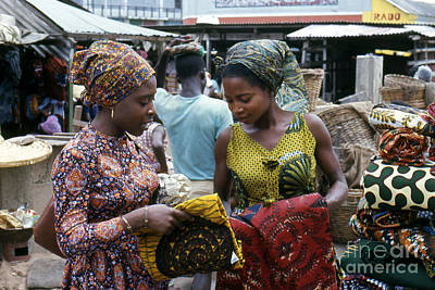 Market In Accra Ghana Poster by Erik Falkensteen