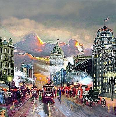 Market Street After The Storm Poster