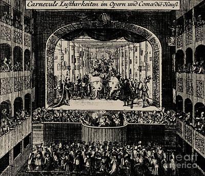 Markgrafentheater In Erlangen, 1721  Poster
