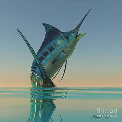 Marlin Sport Fish Poster by Corey Ford