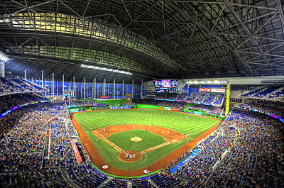 Marlins Park Poster by Shawn Everhart