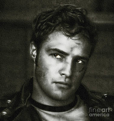 Marlon Brando - Painting Poster