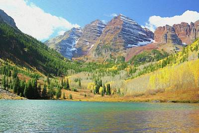 The Maroon Bells Reimagined 2 Poster by Eric Glaser