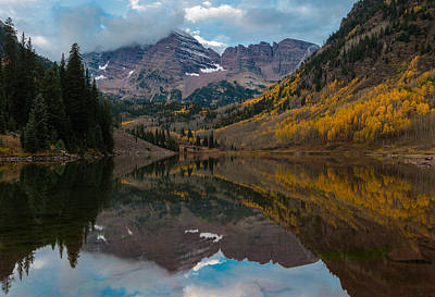 Poster featuring the photograph Maroon Bells by Gary Lengyel