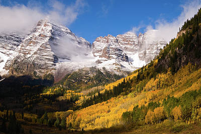 Poster featuring the photograph Maroon Bells by Steve Stuller