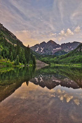 Maroon Bells Sunset - Aspen - Colorado Poster