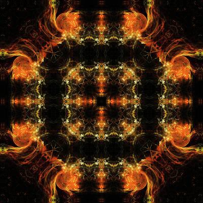 Mars In Fire Mandala 16 Poster