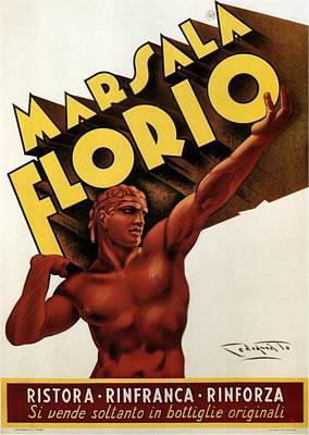 Marsala Florio - Sicily, Italy - Vintage Poster Poster