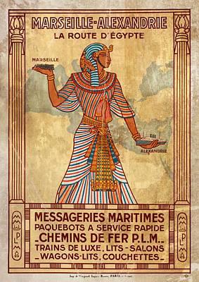 Marseille - Alexandrie La Route D'egypte - Vintagelized Poster