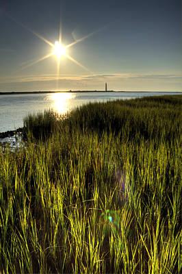 Marsh Grass Sunrise Poster
