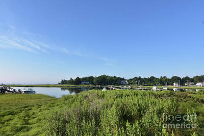 Marsh Grass Surrounding Duxbury Bay In Southeastern Massachusett Poster by DejaVu Designs