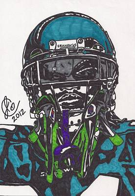 Marshawn Lynch 1 Poster by Jeremiah Colley