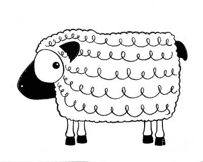 Marshmallow The Sheep Poster by Lucia Stewart