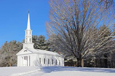 Martha Mary Chapel In Winter Poster by Sue Feldberg