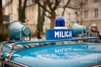 Martial Law Militia Blue Car Detail Poster by Arletta Cwalina