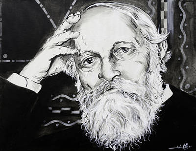 Poster featuring the painting Martin Buber by John Gibbs