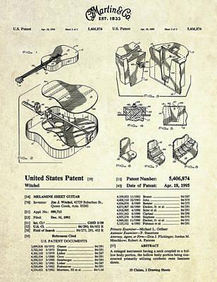 Martin Guitar Patent Art Poster