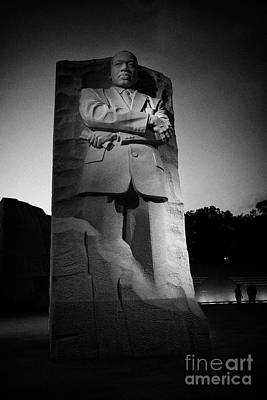 martin luther king jnr memorial at dusk Washington DC USA Poster