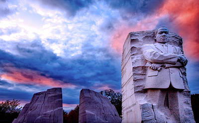 Martin Luther King Jr Memorial At Sunset Poster