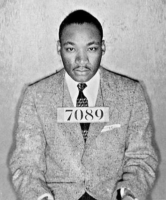 Martin Luther King Jr Mug Shot Poster