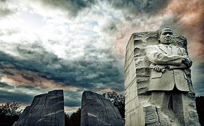 Martin Luther King Memorial At Sunset Poster