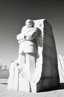 Martin Luther King Memorial Statue In Washington Dc Poster by Brandon Bourdages