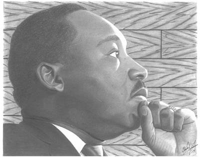 Martin Luther King Jr. Poster by Oliver Johnson