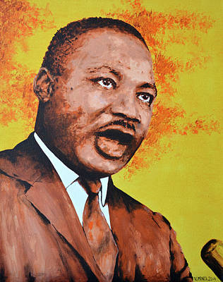 Martin Luther King Poster by Victor Minca